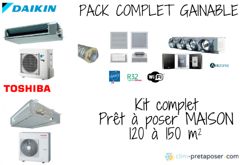 Pack complet Gainable maison 120 à 150 m²
